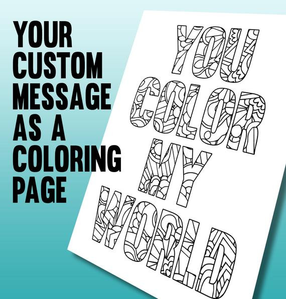 Personalized Coloring Pages  Personalized coloring page Printable A4 coloring page made