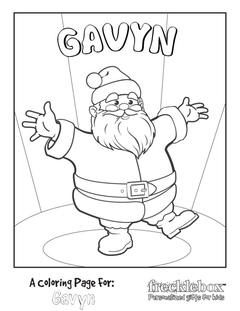 Personalized Coloring Pages  Free Coloring Pages Free Personalized Christmas Printable