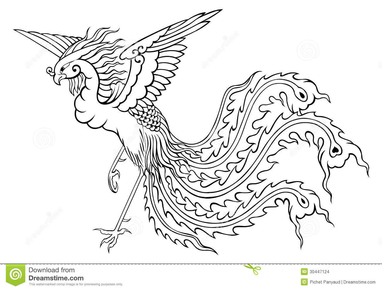 Pheonix Coloring Pages  Printable Phoenix Coloring Pages