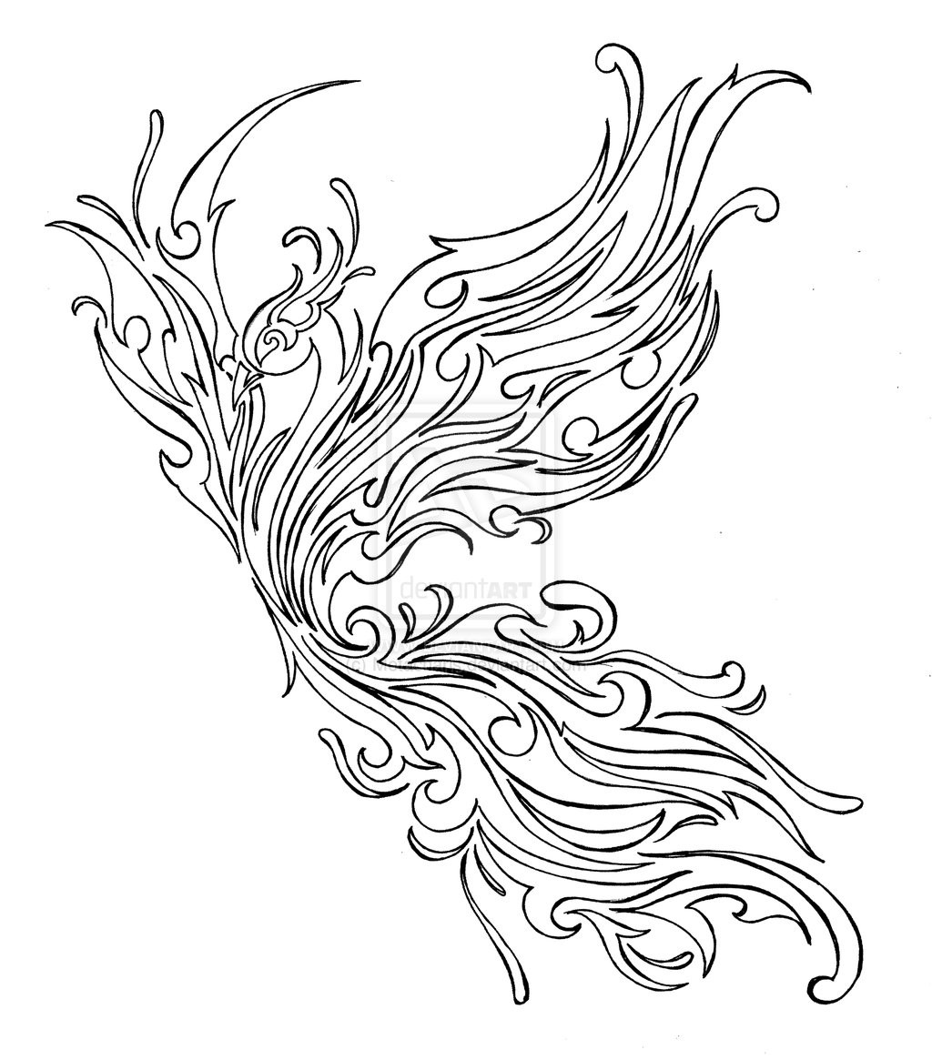 Pheonix Coloring Pages  Tribal Phoenix Tattoo by Metacharis on DeviantArt
