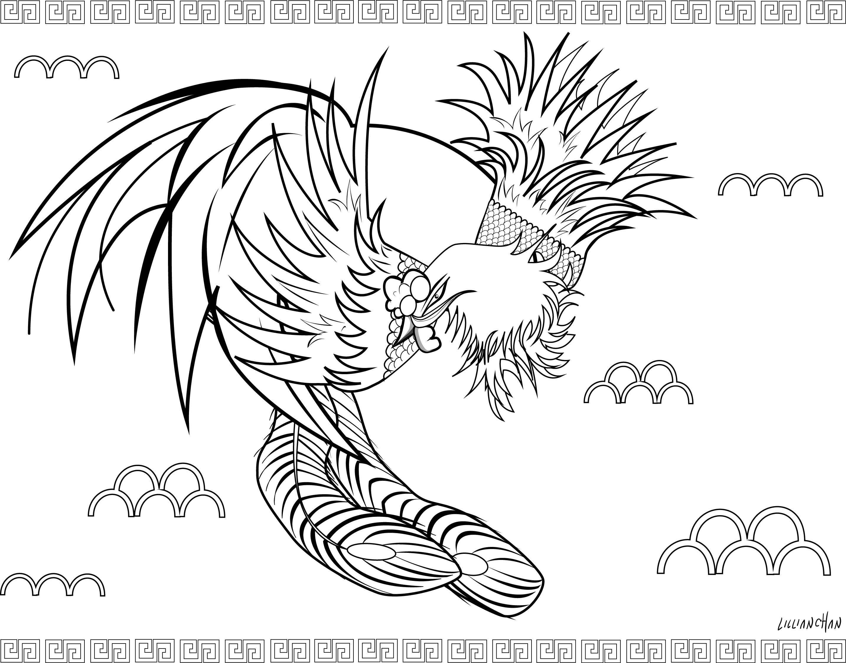 Pheonix Coloring Pages  Cute Phoenix Coloring Pages Coloring Pages