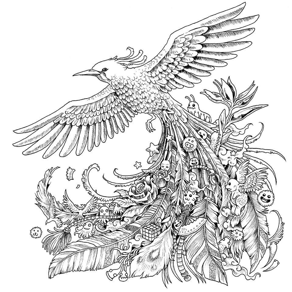 Pheonix Coloring Pages  21 Phoenix Coloring Page pilation