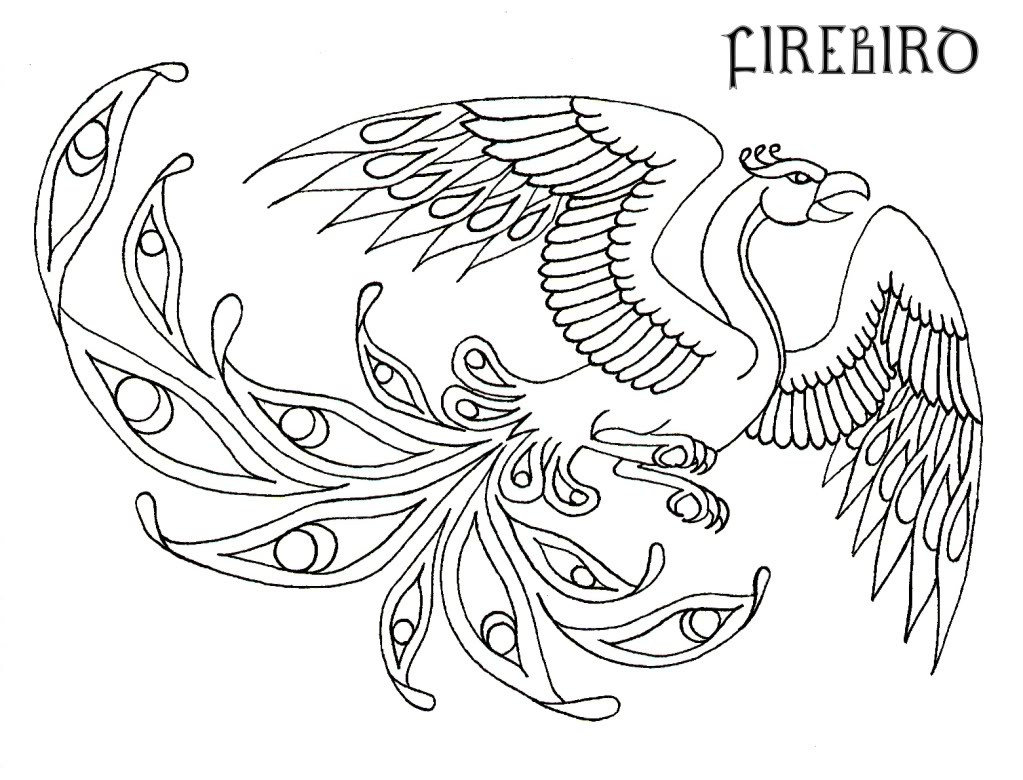 Pheonix Coloring Pages  Phoenix Coloring Pages