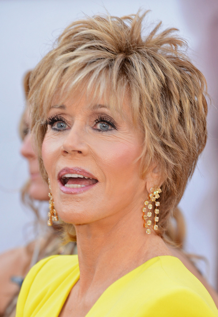 Best ideas about Photos Of Womens Short Haircuts . Save or Pin Jane Fonda in Red Carpet Arrivals at the Oscars Zimbio Now.