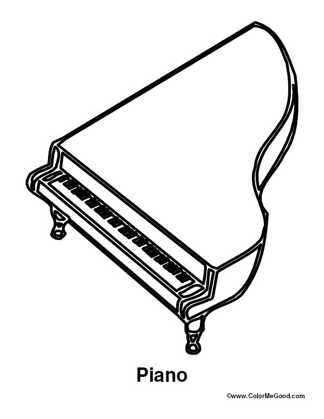 Piano Coloring Pages  Coloring & Activity Pages 06 21 11