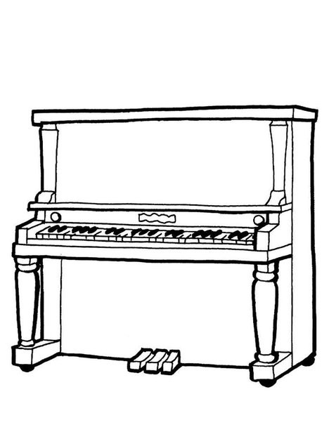 Piano Coloring Pages  The World of Piano