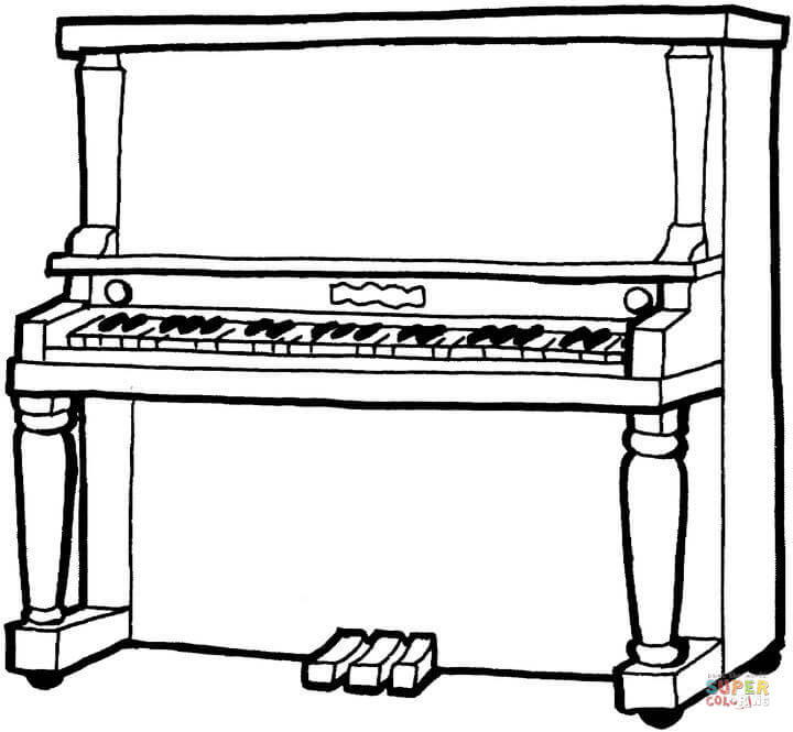 Piano Coloring Pages  Coloriage Piano