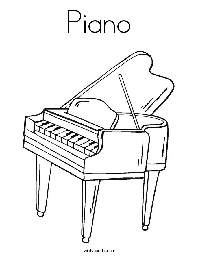 Piano Coloring Pages  Piano Coloring Page Twisty Noodle