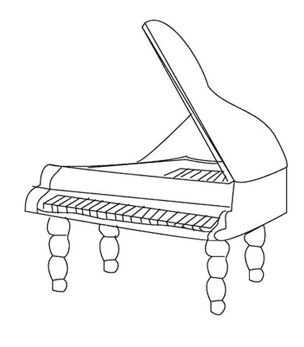 Piano Coloring Pages  Piano Free Colouring Pages