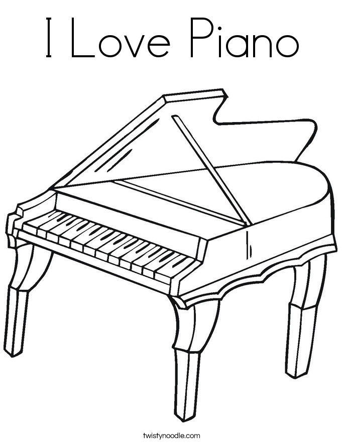 Piano Coloring Pages  Piano Outline Drawing at GetDrawings