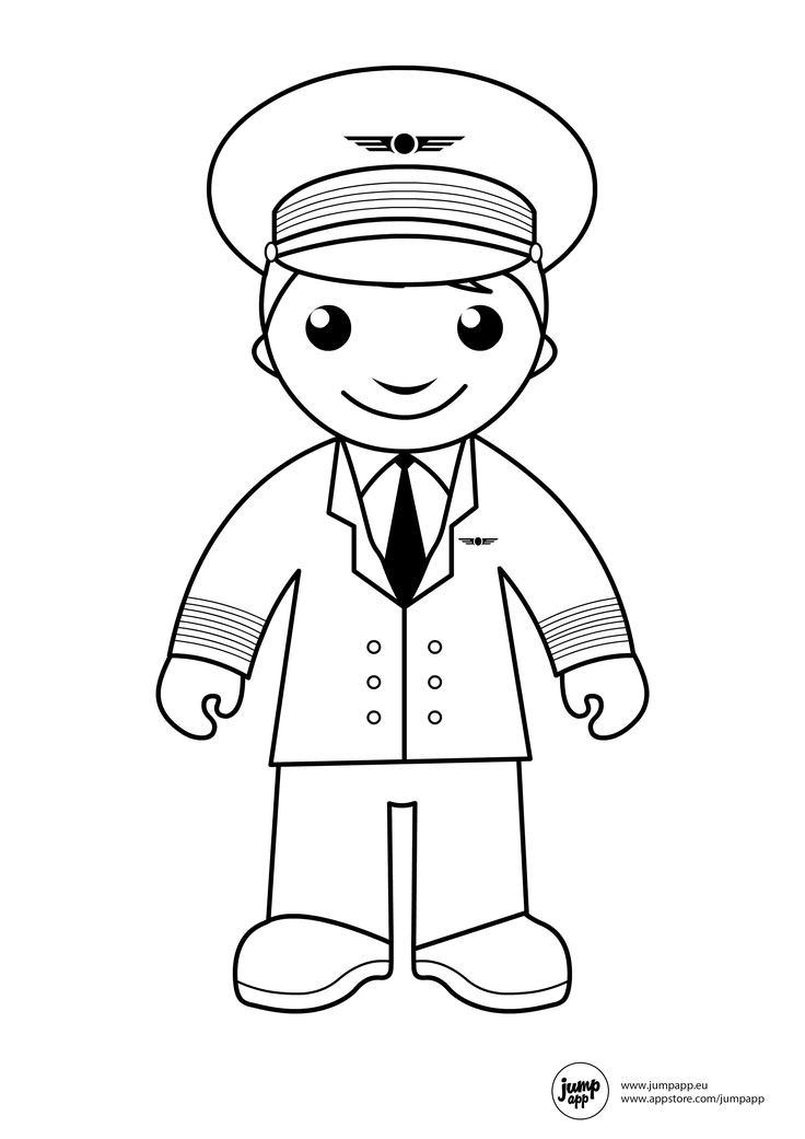 Pilot Coloring Pages For Kids  Pin by Jump App on Printable Coloring Pages
