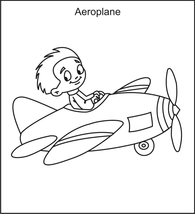 Pilot Coloring Pages For Kids  Airplane Coloring Pages To Print For Free