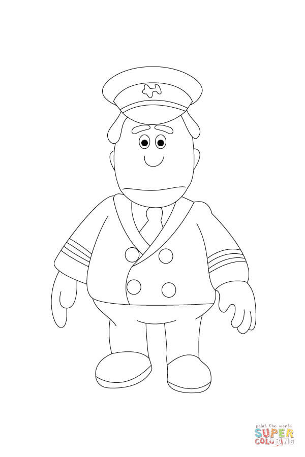 Pilot Coloring Pages For Kids  Pilot Hat Coloring Pages For Kids Sketch Coloring Page