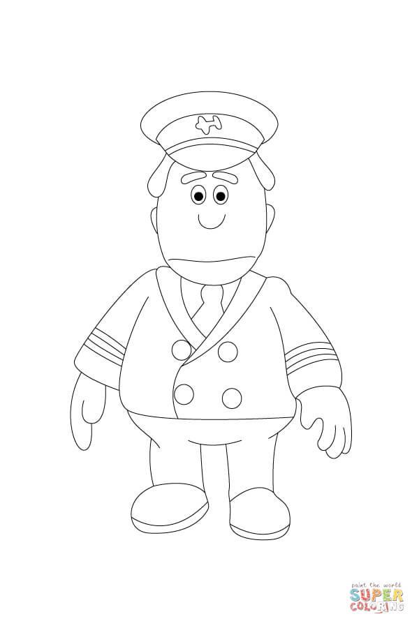 Pilot Coloring Pages For Kids  Pilot Hat Coloring Pages For Kids Sketch Coloring Page