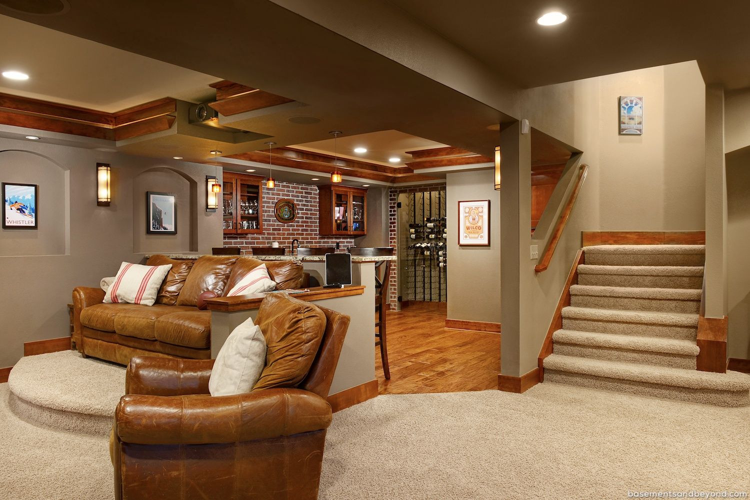 Best ideas about Pinterest Basement Ideas . Save or Pin Wow just superb REMODELLED BASEMENT IDEAS Now.