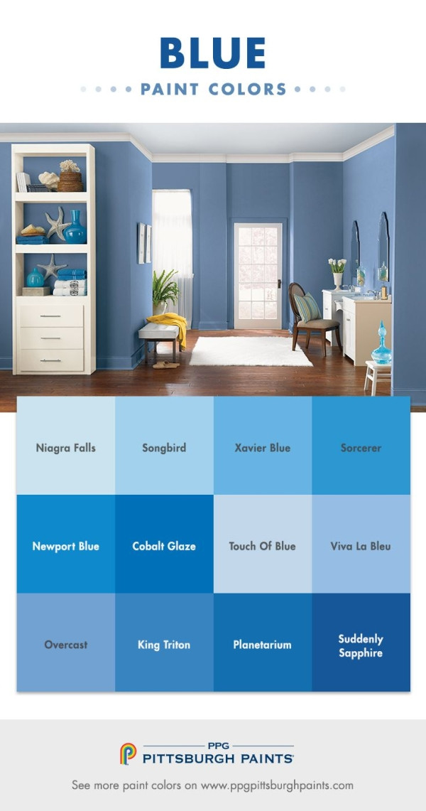 Best ideas about Pittsburgh Paint Colors . Save or Pin Blue Color Inspiration from PPG Pittsburgh Paints Blue Now.