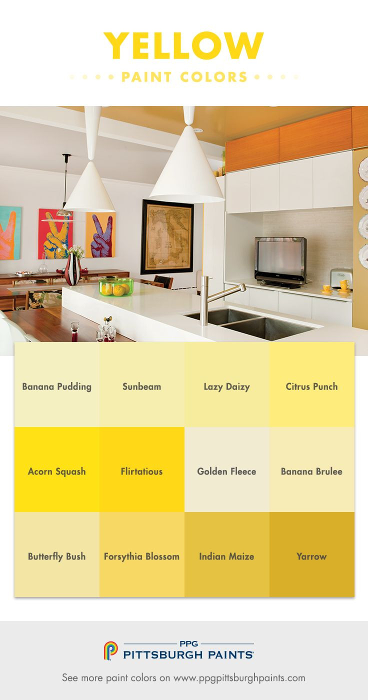 Best ideas about Pittsburgh Paint Colors . Save or Pin Yellow Paint Color Advice from PPG Pittsburgh Paints Now.