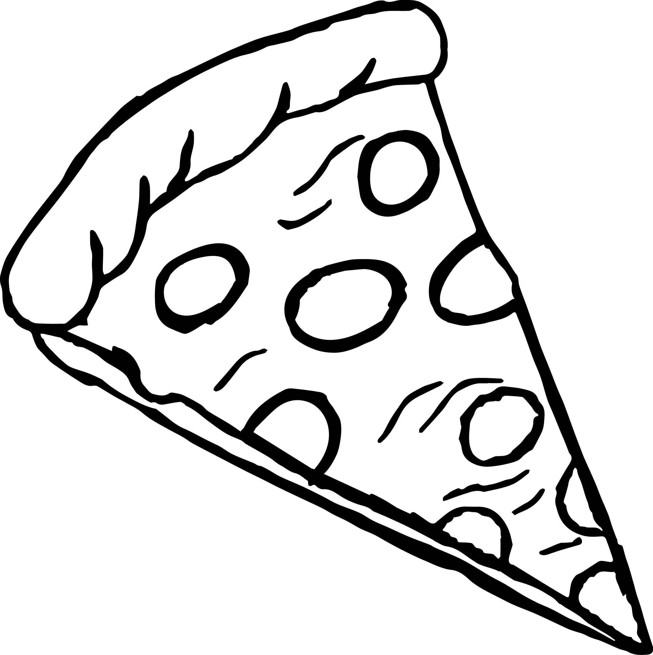 Pizza Coloring Sheet  Pepperoni Pizza Coloring Page