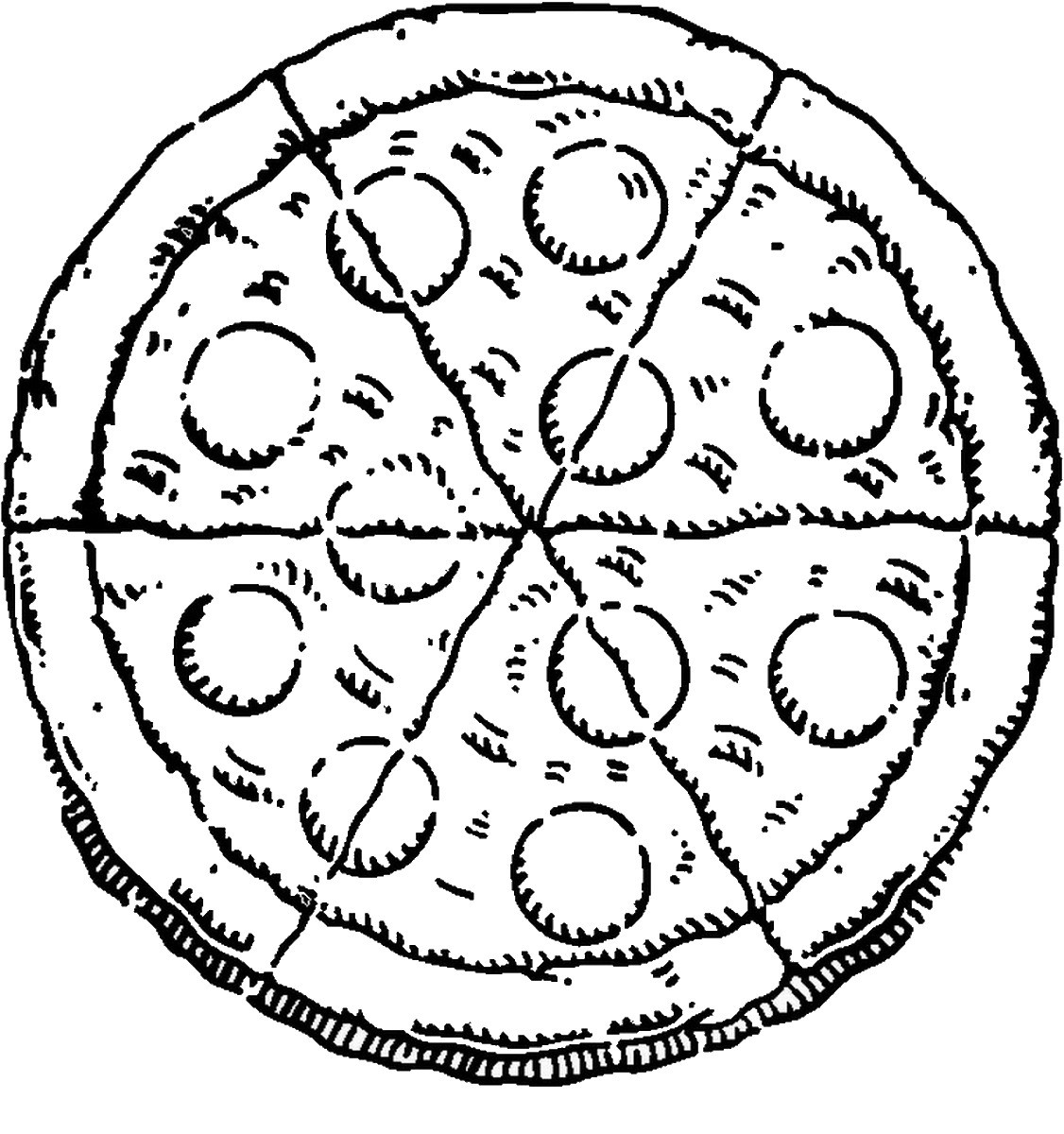 Pizza Coloring Sheet  Pizza Coloring Pages