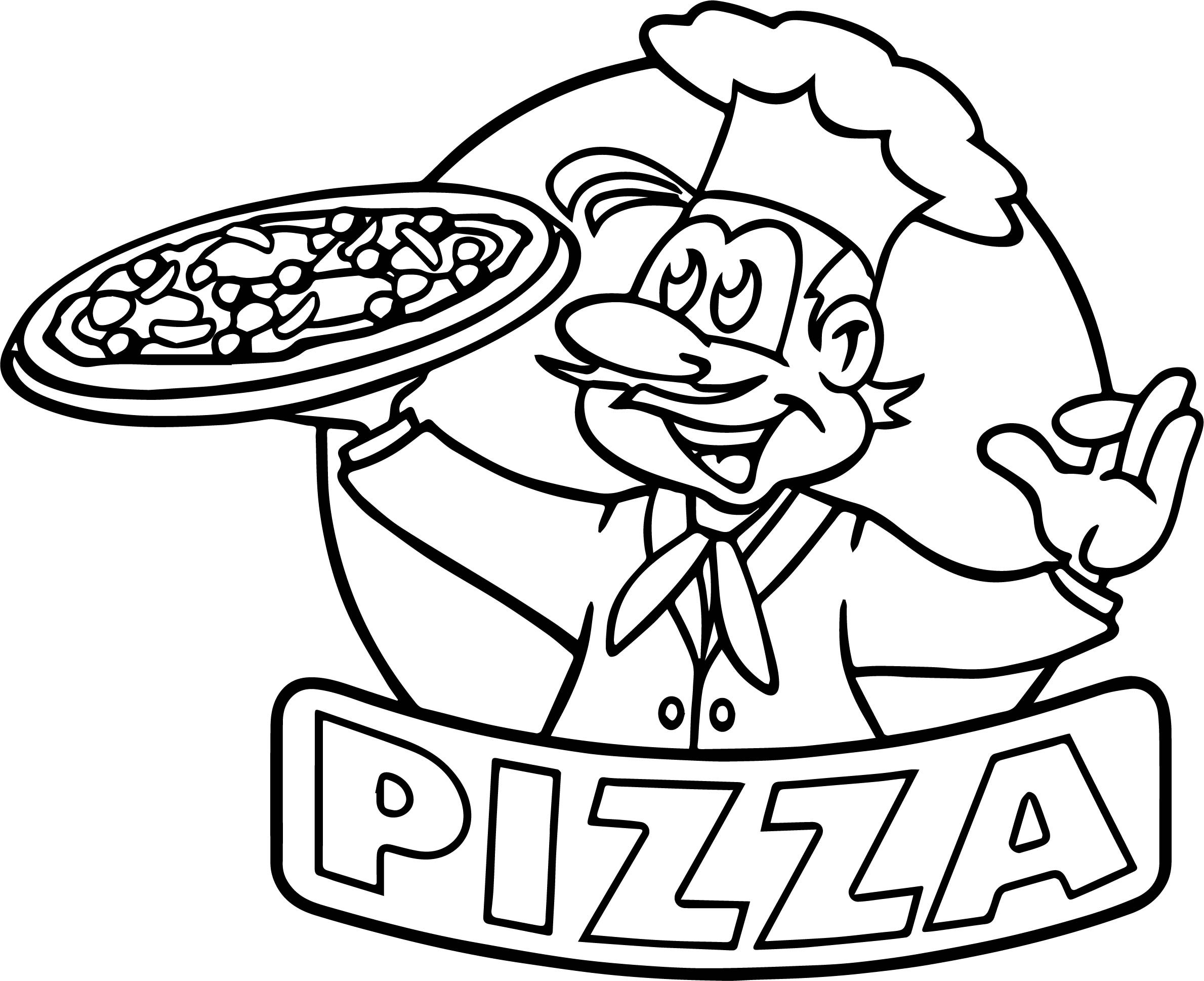 Pizza Coloring Sheet  Cartoon Picture Pizza Coloring Page