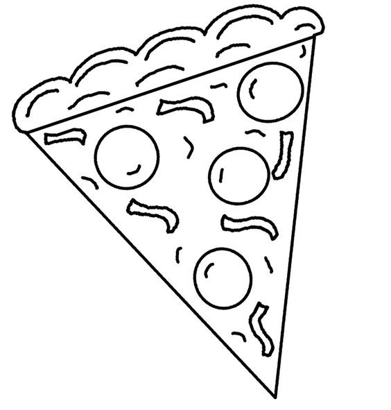 Pizza Coloring Sheet  30 Pizza Coloring Pages ColoringStar