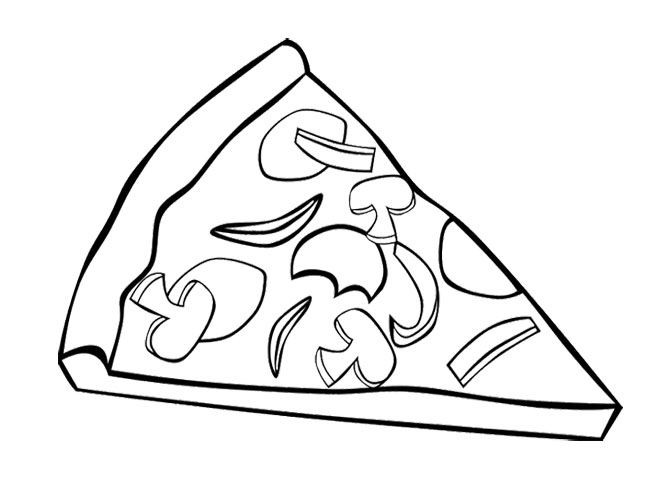 Pizza Coloring Sheet  Pizza Coloring Pages for childrens printable for free