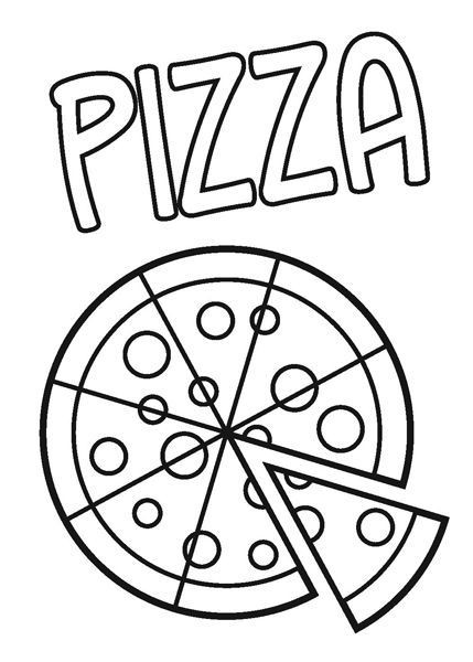 Pizza Coloring Sheet  Pizza Coloring Sheet Coloring Home