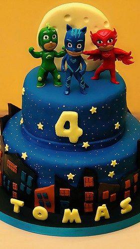 Pj Masks Birthday Cake Walmart  Decoración de Tortas de Héroes en Pijamas Pasteles de PJ