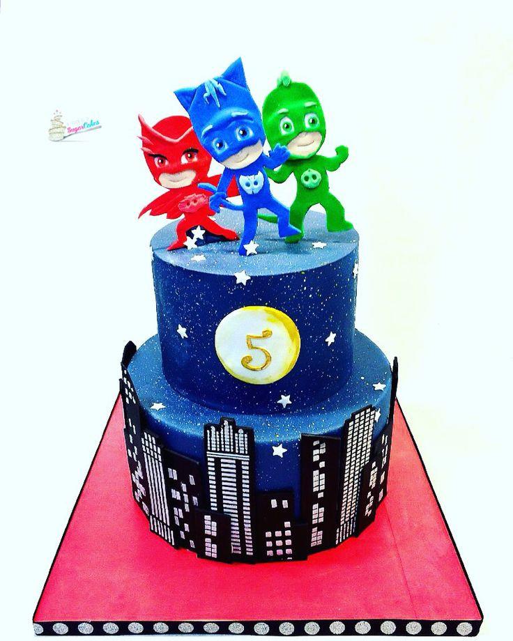 Pj Masks Birthday Cake Walmart  6 PJ Masks Disney Cakes Toppers PJ Party Mask
