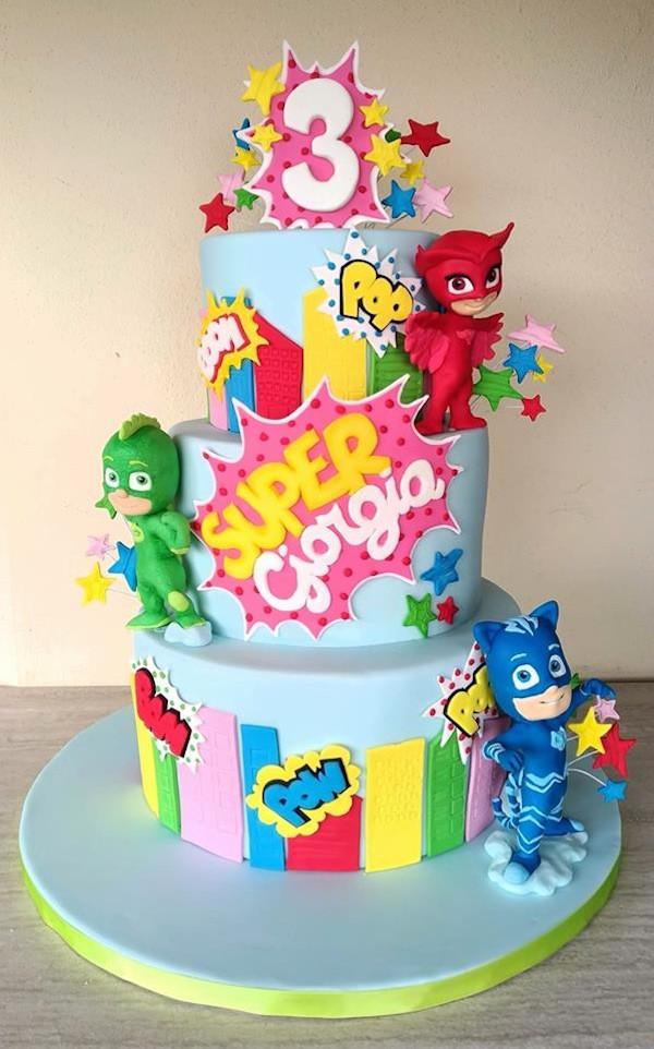 Pj Masks Birthday Cake Walmart  Torta PJ Masks le torte decorate dei superpigiamini