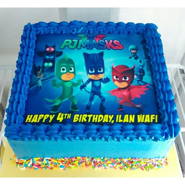 Pj Masks Birthday Cake Walmart  PJ Masks Customise Cake Food & Drinks Baked Goods