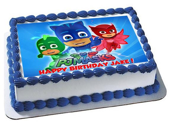 Pj Masks Birthday Cake Walmart  PJ Masks edible cake topper PJ Masks edible cupcake toppers
