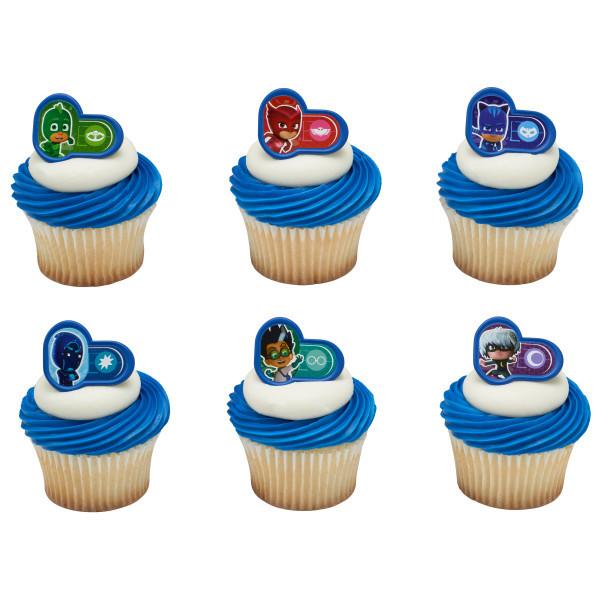 Pj Masks Birthday Cake Walmart  PJ Masks Heroes and Villains Cupcake Rings