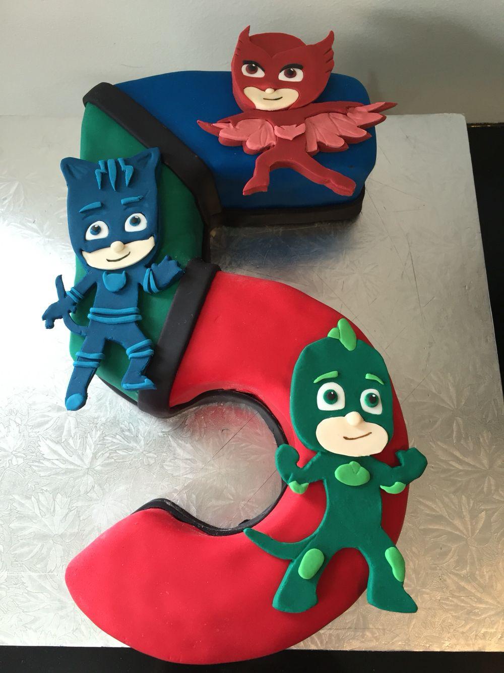 Pj Masks Birthday Cake Walmart  PJ Masks cake Totally Caked Pinterest