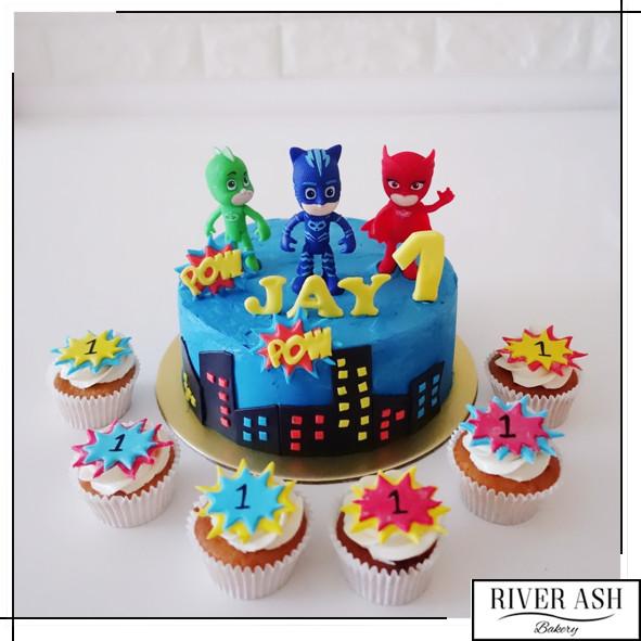 Pj Masks Birthday Cake Walmart  PJ Mask Cake Cupcakes Bundle PJ Masks Party Singapore
