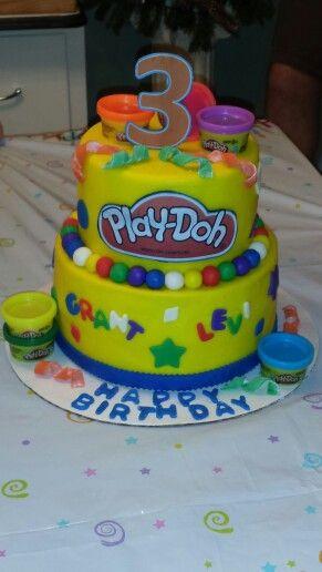 Play Doh Birthday Cake  Play doh birthday cake Cakes Pinterest