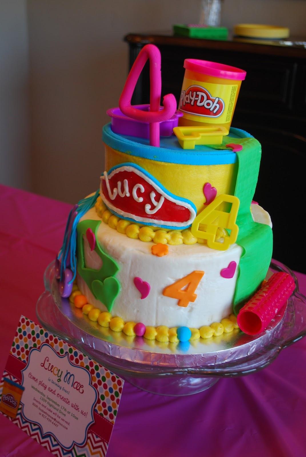 Play Doh Birthday Cake  The Tanner Manor Play doh 4th Birthday