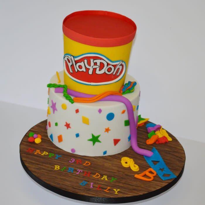 Play Doh Birthday Cake  Play Doh birthday cake Cake by Krumblies Wedding Cakes