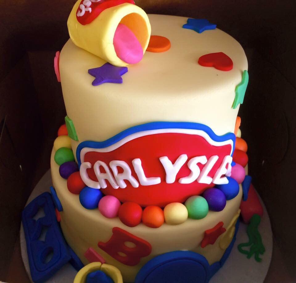 Play Doh Birthday Cake  Play doh themed birthday cake Yelp
