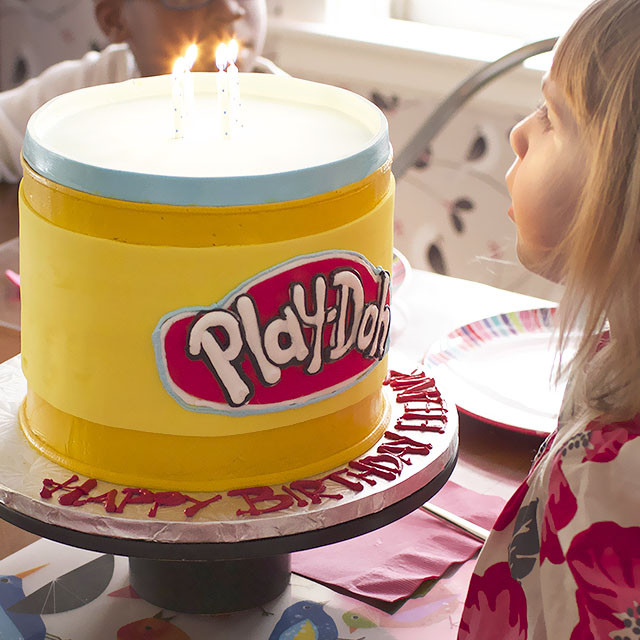 Play Doh Birthday Cake  Eleanor s Fourth Birthday Party Making it Lovely
