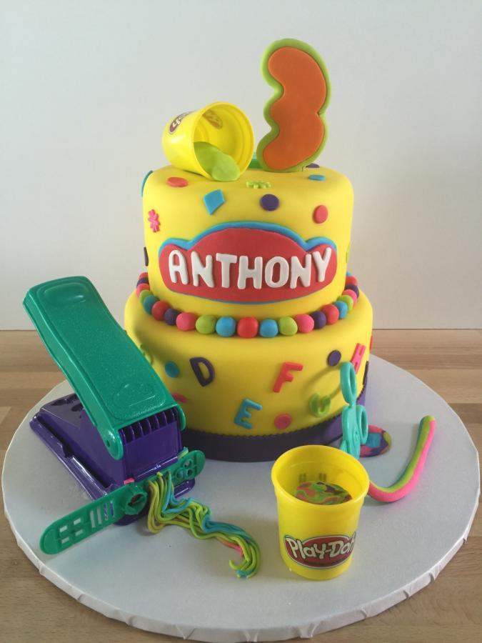 Play Doh Birthday Cake  Play Doh themed 3rd Birthday Cake cake by Pattie Cakes
