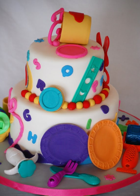 Play Doh Birthday Cake  CakeFilley Play Doh Theme