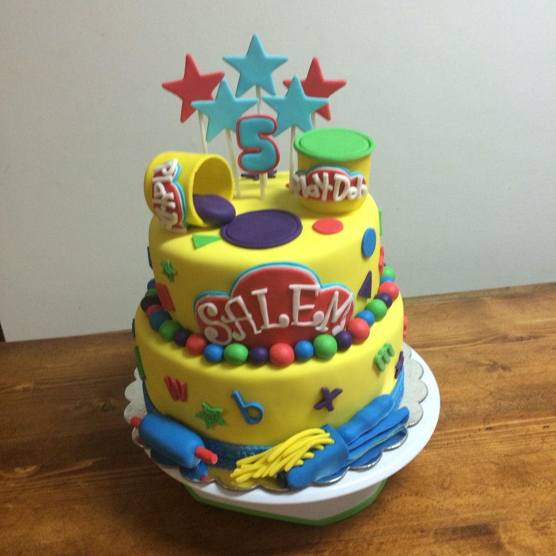 Play Doh Birthday Cake  Play Doh cake My Cake Creations Pinterest