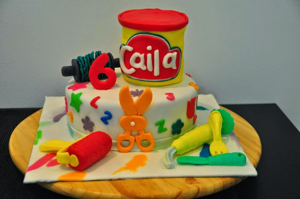 Play Doh Birthday Cake  Glimpses of Pam A Play Doh Themed Birthday Party