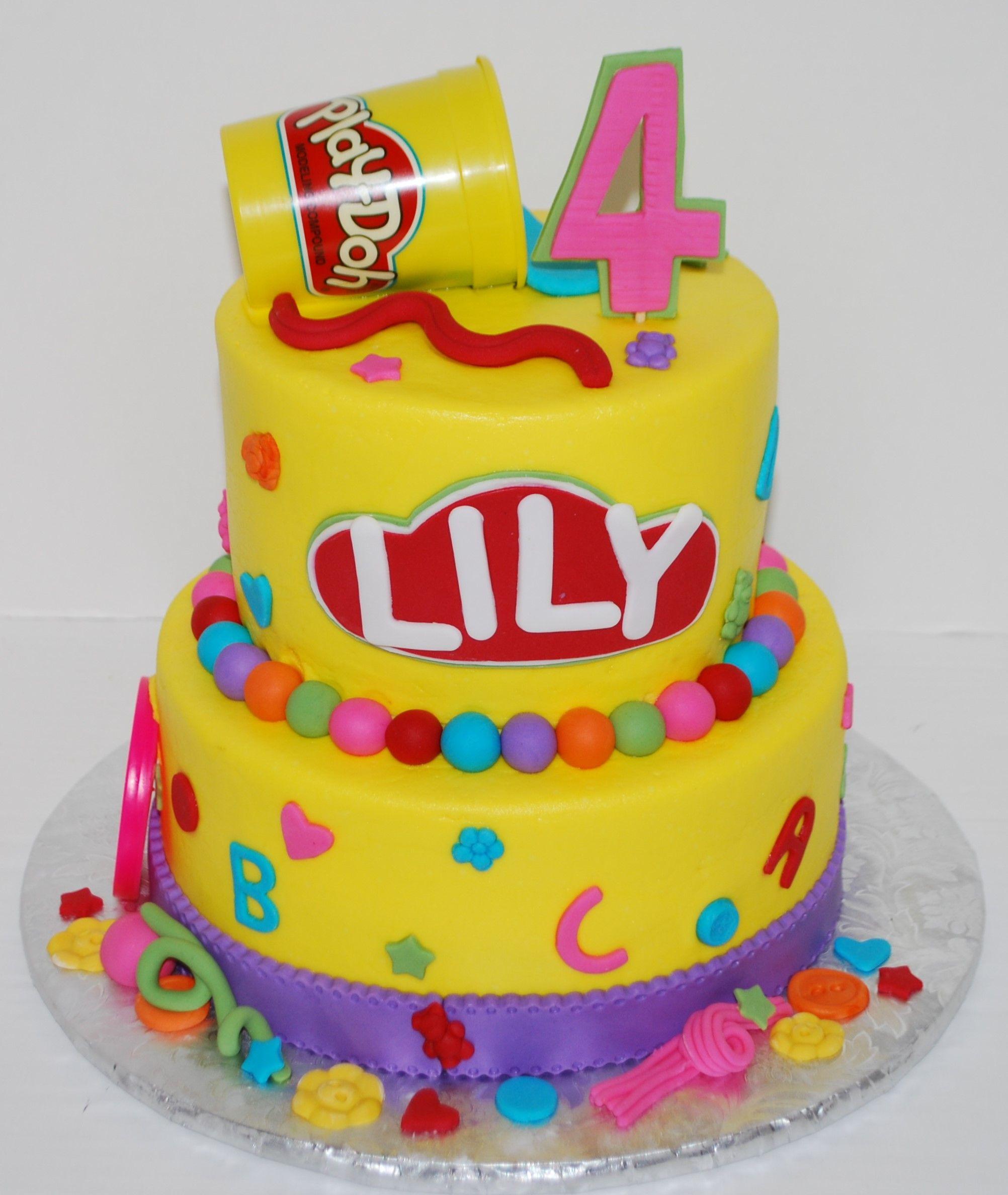 Play Doh Birthday Cake  Play Doh Theme Birthday Cake
