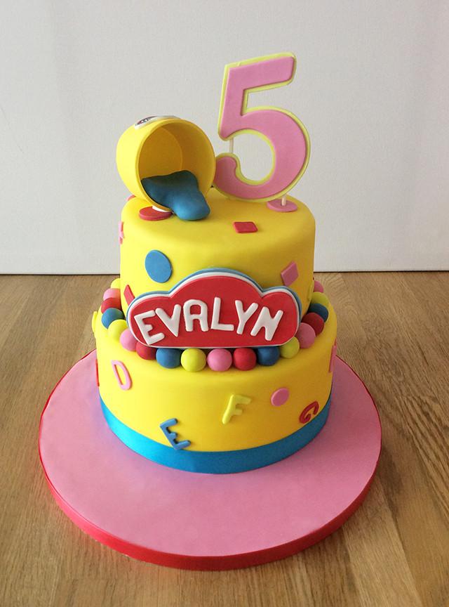 Play Doh Birthday Cake  Celebration Cakes The Cakery Leamington Spa
