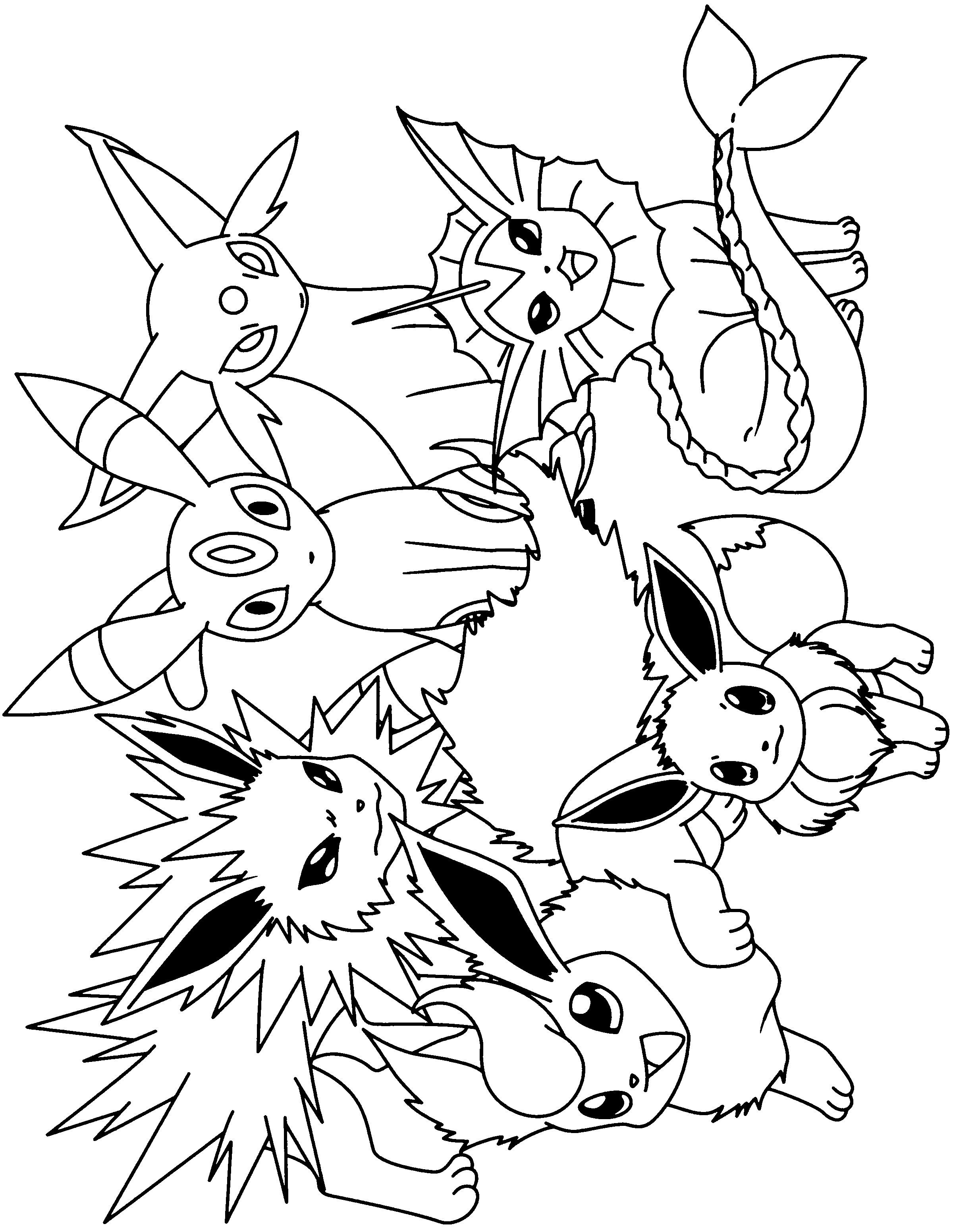 flabebe pokemon coloring pages - HD2400×3100