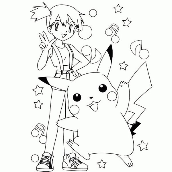 Pokemon Coloring Sheets For Girls  Free Printable Pikachu Coloring Pages For Kids