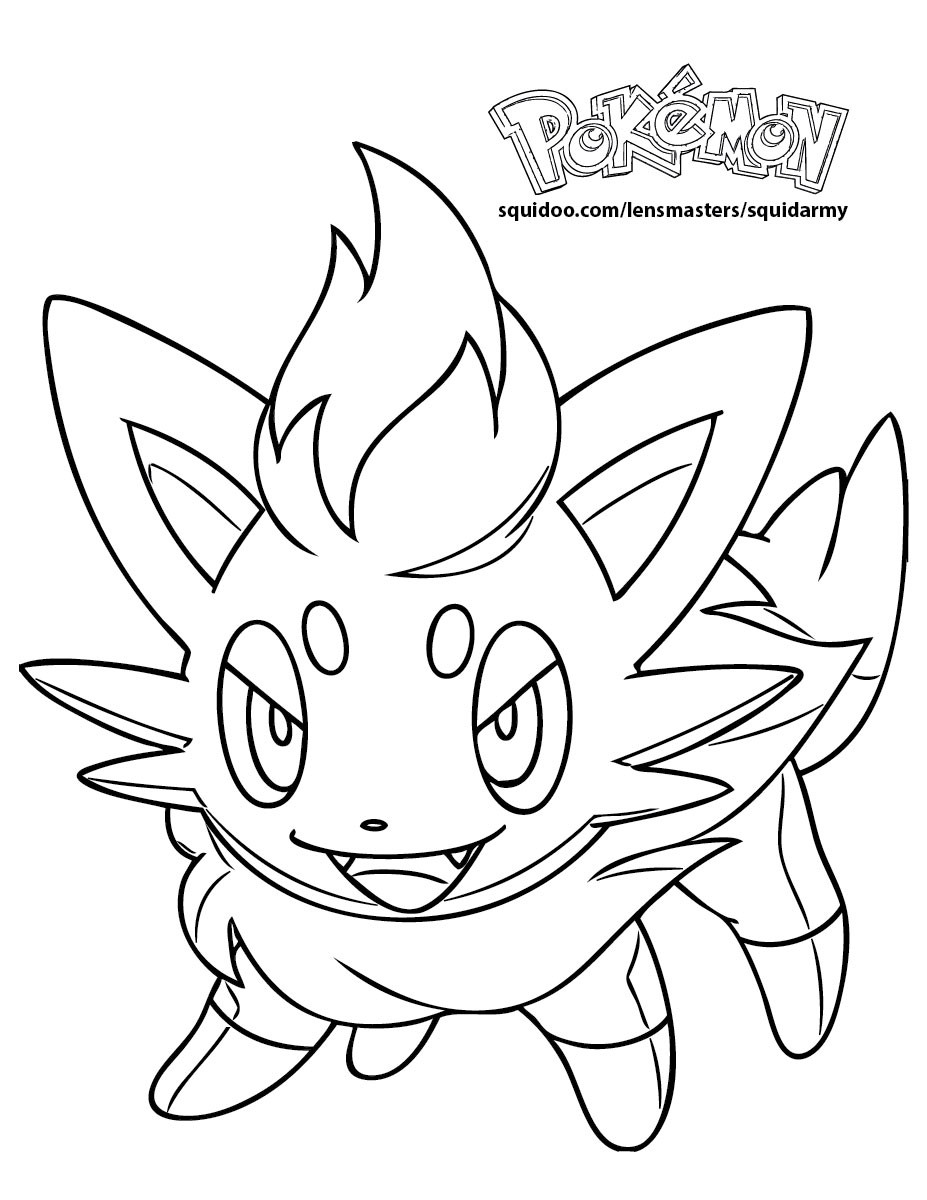 Pokemon Coloring Sheets For Girls  Pokemon Coloring Pages