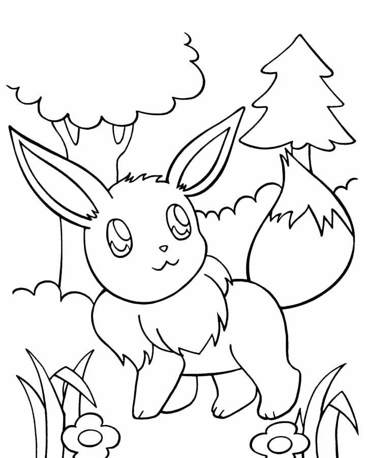 Pokemon Coloring Sheets For Girls  Pokemon Eevee Coloring Pages Pokemon Coloring Pages